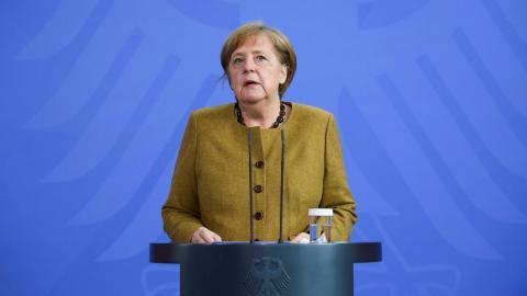 Merkel. Bild: Annegret Hilse/AP
