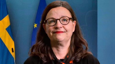 Skolministern Anna Ekström. Bild: Linnéa Wannefors/TT