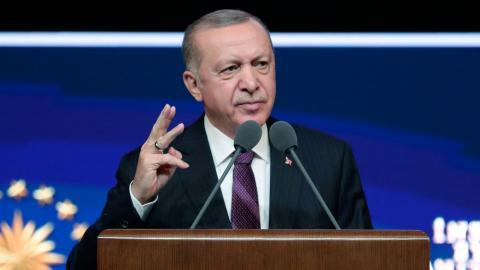 Erdogan. Bild: TT/AP