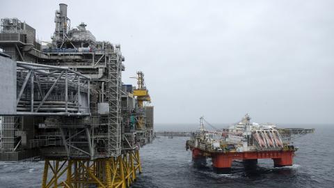 Johan Sverdrup-fältet. Trots den nya rapporten från IEA står Norge fast vid sin oljepolitik. Bild: TT/NTB