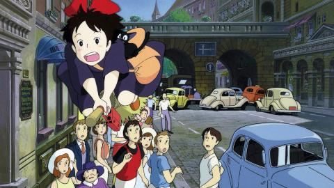 """Staden  i """"Kikis expressbud"""" är delvis  inspirerad av två svenska städer. Bild: Studio Ghibli"""