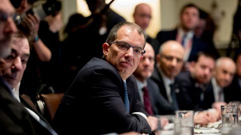 Stéphane Bancel, vd för amerikanska bioteknikföretaget Moderna. Bild: Andrew Harnik/TT/AP
