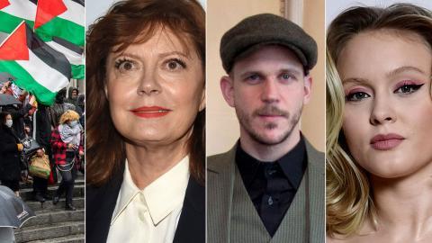 Susan Sarandon, Gustaf Skarsgård och Zara Larsson är några av kändisarna som tar ställning för Gaza. Bild: TT/AP