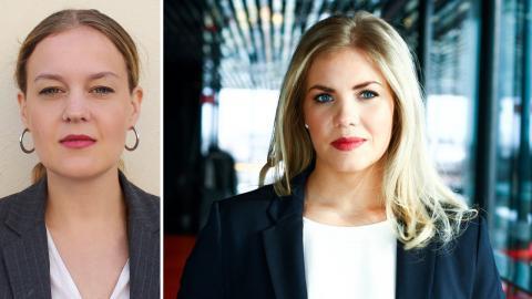 Lisa Palm (Fi) / Sarah Havneraas (KD). Bild: Fi / Jemima Teglund