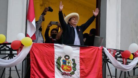 Pedro Castillo. Bild: TT/AP