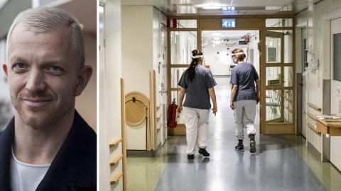 Jonas Lindberg, V, sjukvårdspolitisk talesperson i region Stockholm. Bild: Vänsterpartiet / Magnus Hjalmarson Neideman/SvD/TT