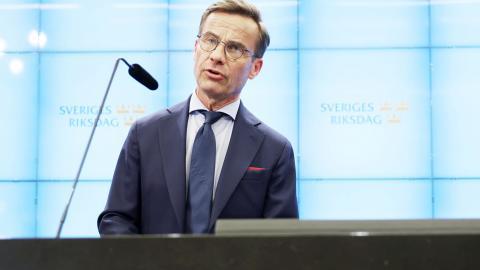 Ulf Kristersson. Bild: TT/Fredrik Persson