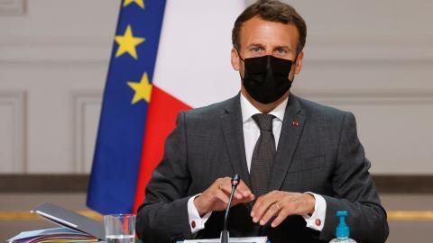 Emmanuel Macron. Bild: TT/AP