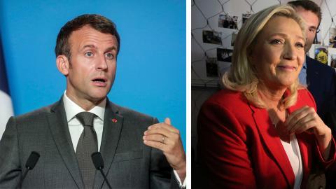 Emmanuel Macron och Marine Le Pen.  Bild: AP/TT