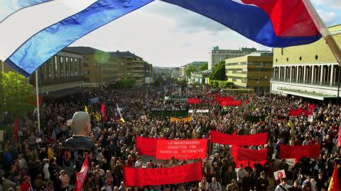 Demonstrationerna i Göteborg 2001. Bild: Adam Butler/TT
