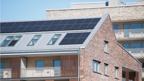 Solcellsanläggningar i södra Sverige minskar belastningen på högspänningsnätet och ger därmed lägre elkostnader för alla hushåll och företag.  Bild: Fredrik Sandberg/TT