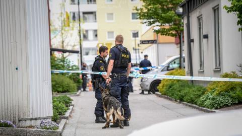 """""""Samma partier som rustat ner välfärden tävlar nu om vem som kan komma med de mest kraftfulla åtgärderna mot kriminalitet"""", skriver debattörerna.  Bild: Fredrik Sandberg/TT"""