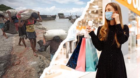 Vår konsumtion och levnadsstandard orsakar större utsläpp än vad som är förenligt med global rättvisa. Samtidigt tvingas människor fly på grund av klimatförändringarna.  Bild: Shutterstock
