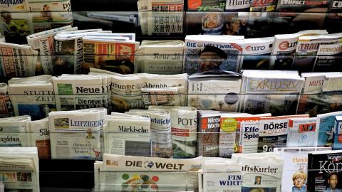 Gruppen vill få Tysklands stora dagstidningar att stoppa fossilreklamen. Bild: Shutterstock
