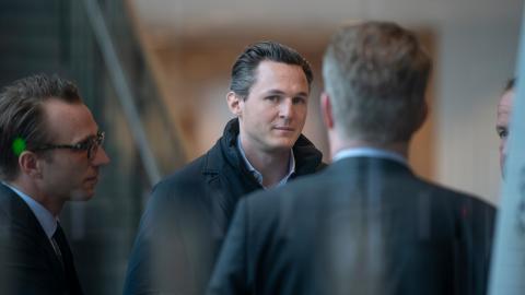 Allras grundare Alexander Ernstberger på väg in till hovrätten tidigare i år.  Bild: Sofia Ekström/SvD/TT