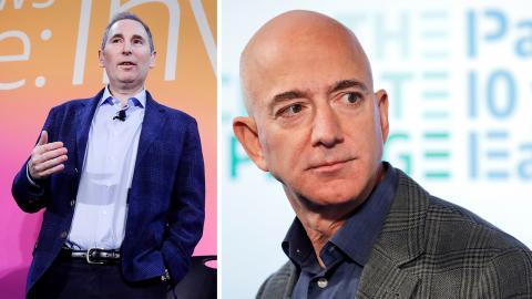 Andy Jassy tar över som ny vd för e-handelsgiganten Amazon efter grundaren Jeff Bezos.  Jens Meyer/AP
