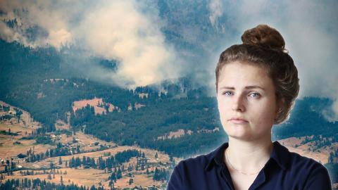 Skogsbrand i British Columbia i Kanada den 1 juli 2021. Bild: Daryll Dyck/AP/TT