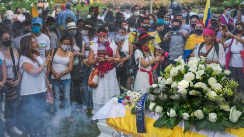 """Lucas Villas familj fick stöd från många håll efter hans död. """"Vi började känna en massa kärlek och enighet när de insåg att de inte var ensamma om den här sorgen"""", förklarar Sidssy Uribe Vásquez.  Bild: Privat"""