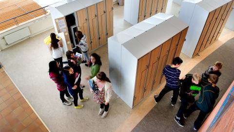 Solna lade ner Skytteholmsskolans mellan- och högstadieklasser efter att Internationella engelska skolan hade etablerat sig i kommunen. Bild från friskolekoncernens lokaler i Täby. Bild: Pontus Lundahl