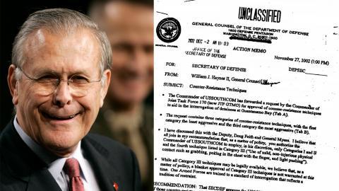 Som George W Bushs försvarsminister var Donald Rumsfeld en central spelare i den starkt ifrågasatta invasionen av Irak och det rekordlånga kriget i Afghanistan. Bild: Scott Applewhite/TT