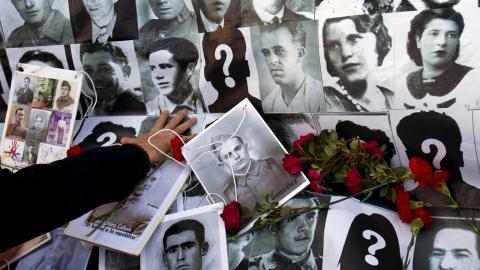 Under Francos regim dödades hundratusentals politiska fiender. Bild: Paul White/AP/TT