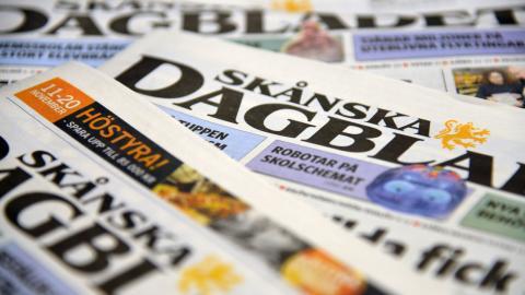Skånska Dagbladet – nu en Bonnierägd tidning. Bild: TT/Jon Willén