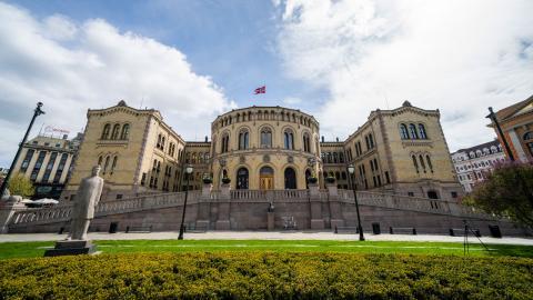 Stortinget i Oslo. Bild: TT/NTB/ Håkon Mosvold Larsen