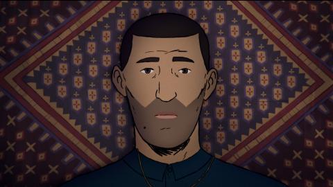 """Stillbild på Amin från den animerade dokumentären """"Flykt"""" som har svensk premiär nu på fredag den 20 augusti."""