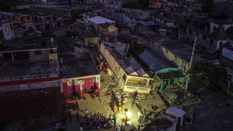 Jordbävningen den 14  augusti har drabbat Haiti hårt.  Bild: Matias Delacroix/AP/TT