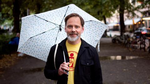 """Mats Jonsson har tidigare skrivit flera självbiografiska serieböcker, bland annat """"Hey Princess"""", """"Mats Kamp""""  och """"Nya Norrland"""".  Bild: Zanna Nordqvist"""