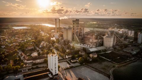 Cementas fabrik i Slite på Gotland.  Bild: Karl Melander/TT